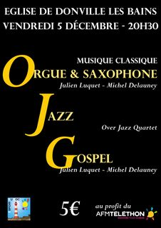 concert orgues saxophone gospel over jazz quartet michel delauney julien luquet