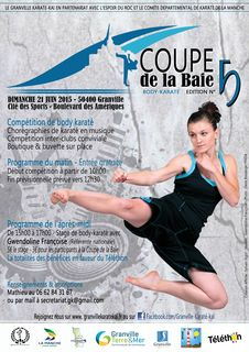 Affiche coupe baie body karate granville 2015