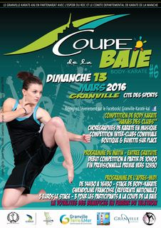Affiche coupe baie body karate granville 2016
